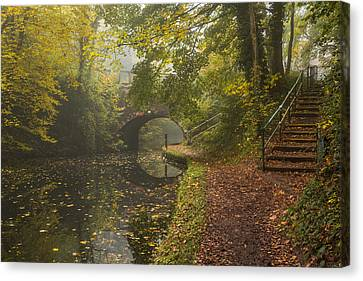 Canal Crossing Canvas Print by Chris Fletcher