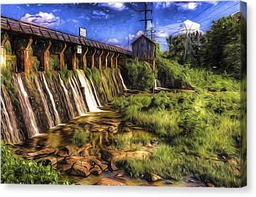 Canal Dam Canvas Print