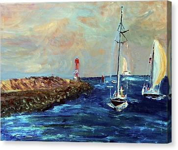 Canal Entrance Canvas Print by Michael Helfen