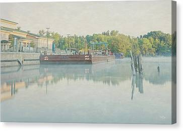 Canvas Print featuring the photograph Canal In Pastels by Everet Regal