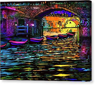Canal In Utrecht, Netherlands Canvas Print by DC Langer