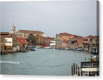 Canal Of Murano Canvas Print