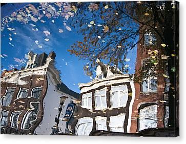 Canal Reflection Canvas Print by John Battaglino
