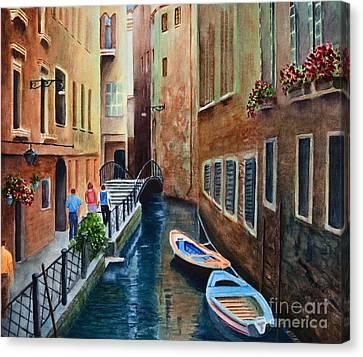 Canal St. Canvas Print by Karen Fleschler