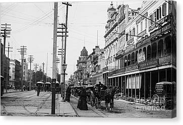 Canal St. New Orleans Ca 1880  Canvas Print