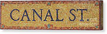 Canal Street Sign Canvas Print by Jannis Werner