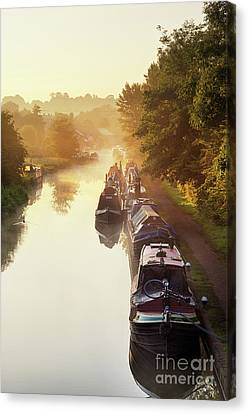 Canal Sunrise Canvas Print by Tim Gainey