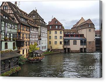 Canals Of Strasbourg Canvas Print