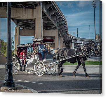 Canalside Carrige Canvas Print by Carlos Ruiz