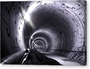 Cananda Line Tunnel Canvas Print by Liz Towers