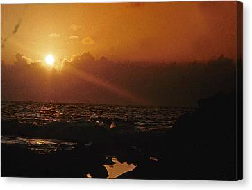 Canvas Print featuring the photograph Canary Islands Sunset by Gary Wonning