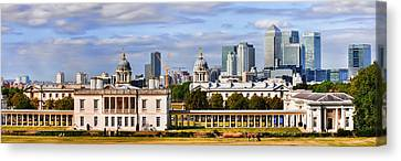 Canvas Print featuring the photograph Canary Wharf by Gouzel -