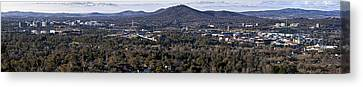 Canberra- Australia - Panorama From Red Hill Canvas Print by Steven Ralser