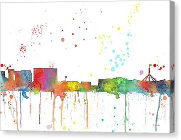 Canberra  Australia Skyline Canvas Print