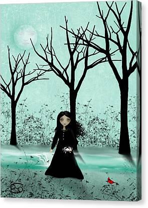 Goth Girl Canvas Print - Cancer by Charlene Zatloukal