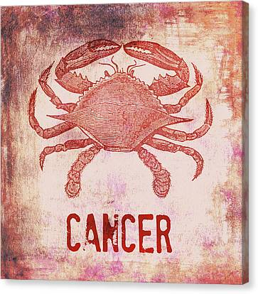 Cancer Crab Canvas Print by Brandi Fitzgerald