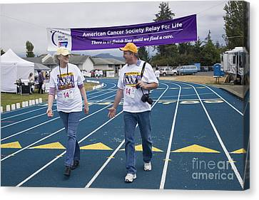 Cancer Walk Relay For Life Canvas Print