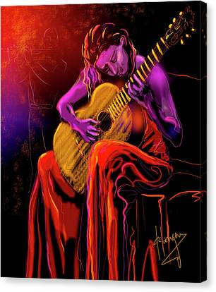 Cancion Del Corazon Canvas Print by DC Langer