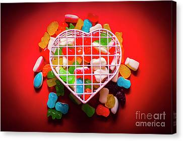 Candies And Hearts Canvas Print by Jorgo Photography - Wall Art Gallery