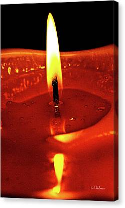 Candle Flame Canvas Print by Christopher Holmes