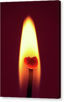 Candle Flame Macro Canvas Print by Wim Lanclus