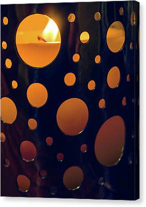 Canvas Print featuring the photograph Candle Holder by Carlos Caetano