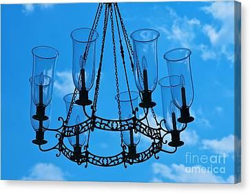 Candle In The Sky Canvas Print by Hideaki Sakurai