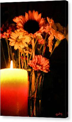 Candle Lit Canvas Print by Kristin Elmquist