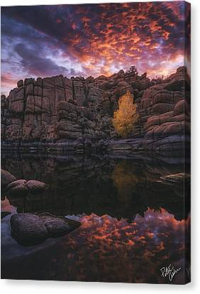 Watson Lake Canvas Print - Candle Lit Lake by Peter Coskun