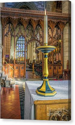 Canvas Print featuring the photograph Candle Of  Prayer by Ian Mitchell