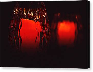 Candle Reflected Canvas Print by Barry Shaffer