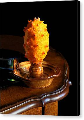 Candled Horned Melon Canvas Print