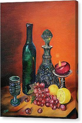 Candlelight Decanter Canvas Print