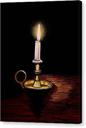 Candlelight Canvas Print