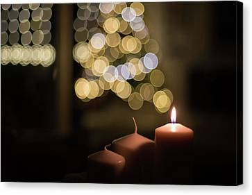 Candles And Light. Canvas Print