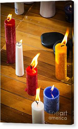 Candles Canvas Print by Charuhas Images