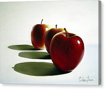 Harvest Canvas Print - Candy Apple Red by Colleen Brown