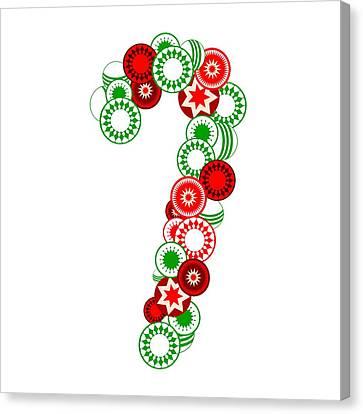 Candy Cane - Christmas Ornaments - Holiday Season Canvas Print by Anastasiya Malakhova