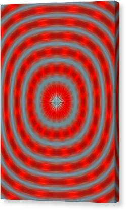 Candy Cane Explostion Canvas Print