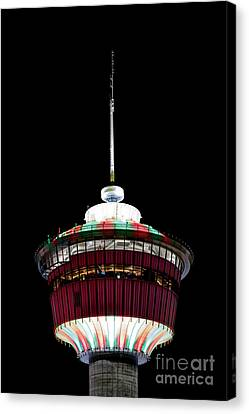 Canvas Print featuring the photograph Candy Cane Tower by Brad Allen Fine Art