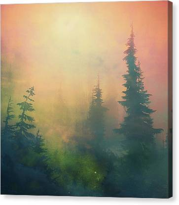 Candy Clouds On Goat Mountain Canvas Print by Squashyhead