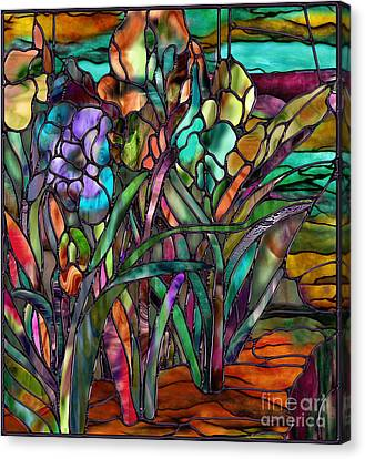 Candy Coated Irises Canvas Print by Mindy Sommers