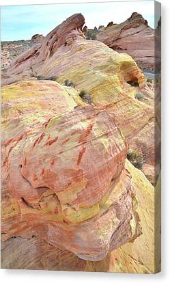 Canvas Print featuring the photograph Candy Colored Sandstone In Valley Of Fire by Ray Mathis