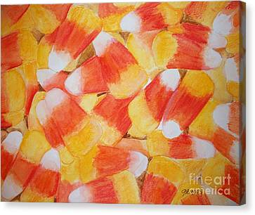 Candy Corn Canvas Print by Carol Grimes