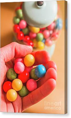 Candy Hand At Lolly Store Canvas Print by Jorgo Photography - Wall Art Gallery