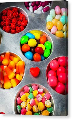 Candy Heart And Tray Canvas Print by Garry Gay