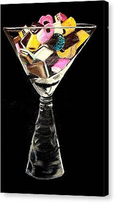 Licorice Canvas Print - Candy In Glass  by Jay Johnston