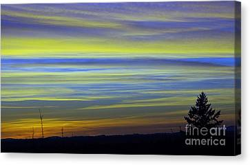 Canvas Print featuring the photograph Candy Sky 1 by Victor K