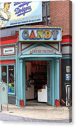 Candy Store Cartoon Canvas Print by Sophie Vigneault