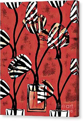 Candy Stripe Tulips 2 Canvas Print by Sarah Loft